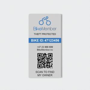 Oblat klistremerke BikeMember Sykkelregister